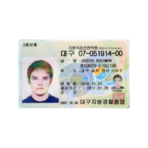 SOUTH KOREAN DRIVER'S LICENSE ONLINE